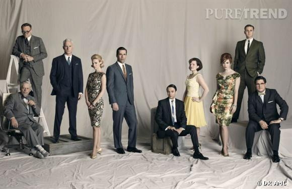 """""""Mad Men"""", la série star qui a décroché 17 nominations aux Emmy Awards."""