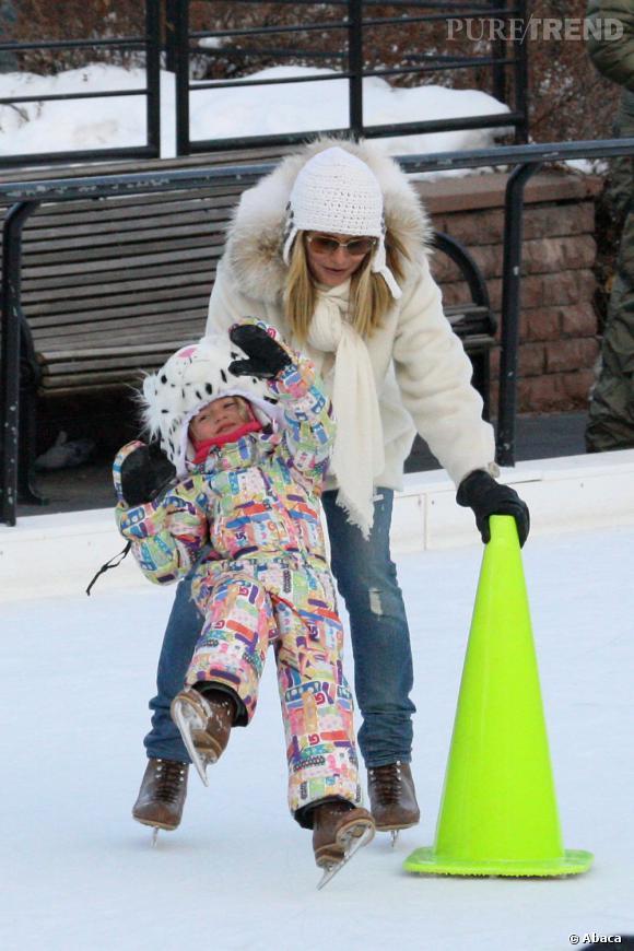 Qui ?  Leni, la fille d'Heidi Klum.    Catégorie ?  Patin à glaces, mais il y a encore du boulot !