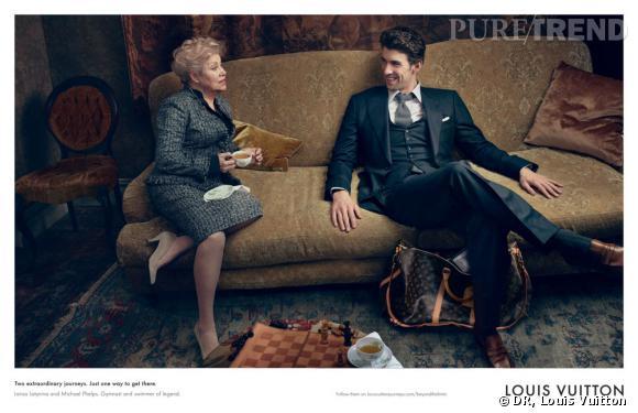Michael Phelps et Larisa Latynina pour la campagne Louis Vuitton Core Values.