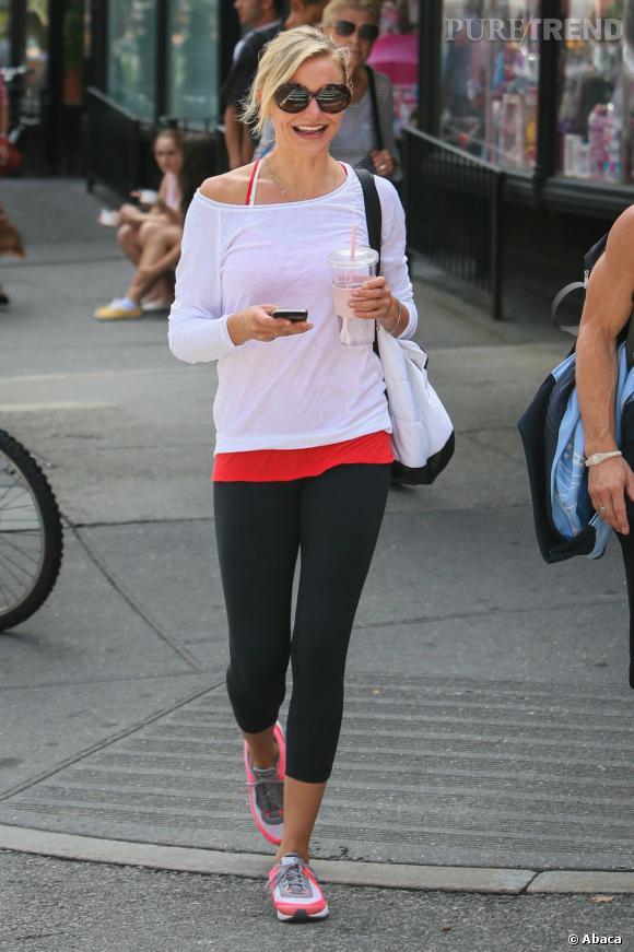 Cameron Diaz dans les rues de New York.