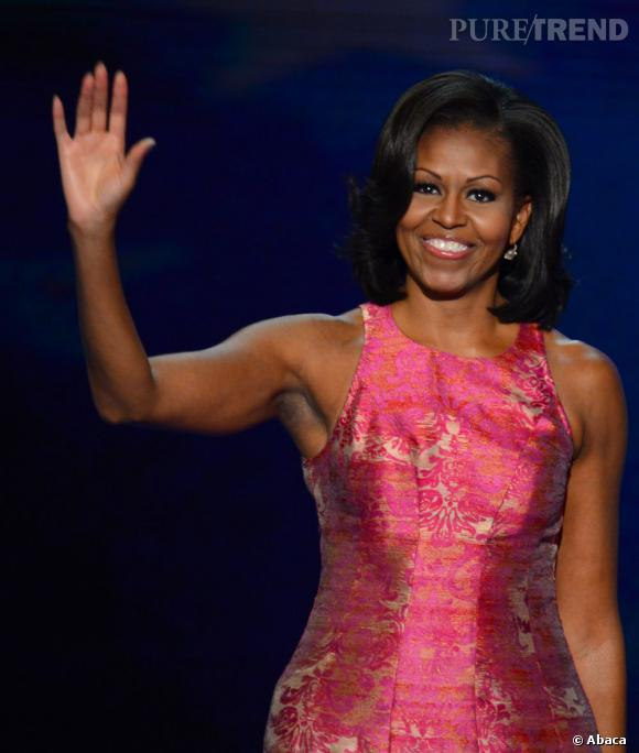 Michelle Obama lors de la convention démocrate à Charlotte aux États-Unis.