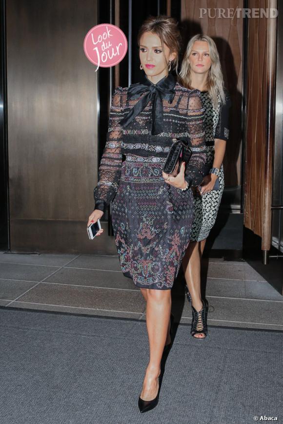 Jessica Alba, une figure mode en cette période de Fashion Week.