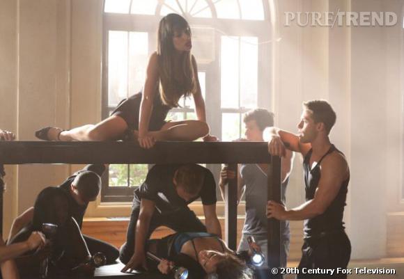 """Lea Michele dévoile son côté sexy dans l'épisode """"Britney 2.0"""" de la saison 4 de """"Glee""""."""
