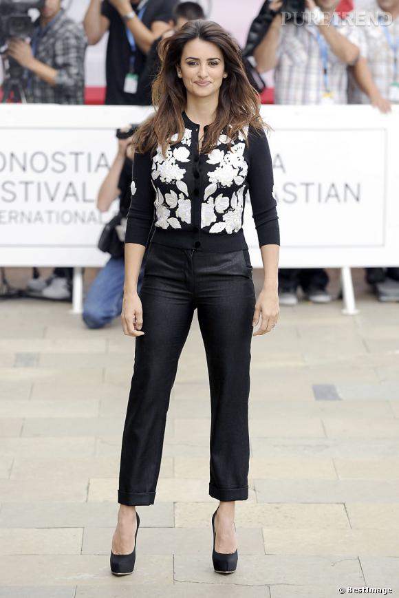 Penelope Cruz à son arrivée au Festival du film de San Sebastian le 25 septembre dernier.
