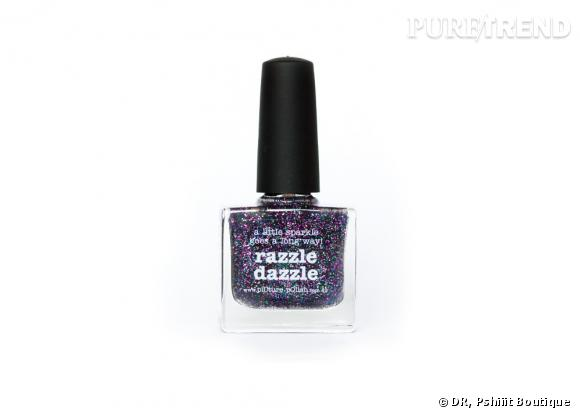 Top coat pailleté Razzle Dazzle de Picture Polish, 11,50 €, disponible sur Pshiiit Boutique