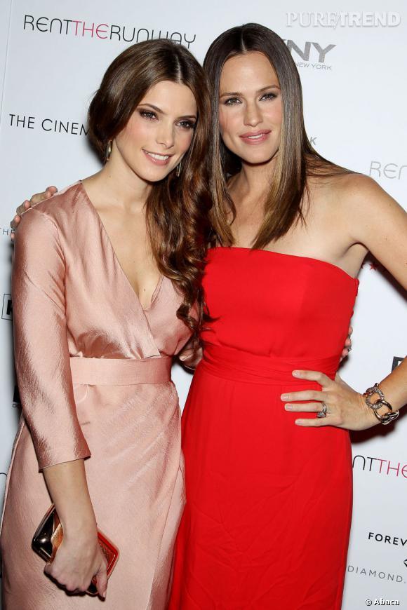 """Ashley Greene et Jennifer Garner à la première de """"Butter"""" à New York, le 27 septembre dernier."""