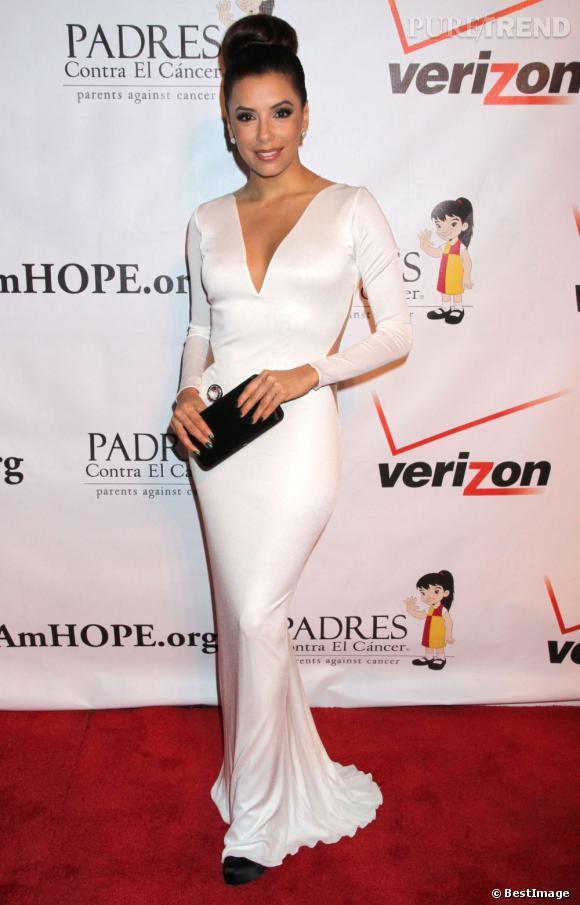 """Eva Longoria à son arrivé à la soirée """"Padres contra el cancer"""" le 29 septembre dernier à Las Vegas."""