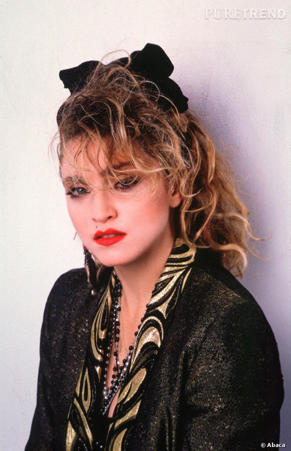 Madonna, très stylée, dans les années 80.