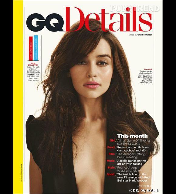 Emilia Clarke, plus sexy que jamais en couverture du GQ Details.