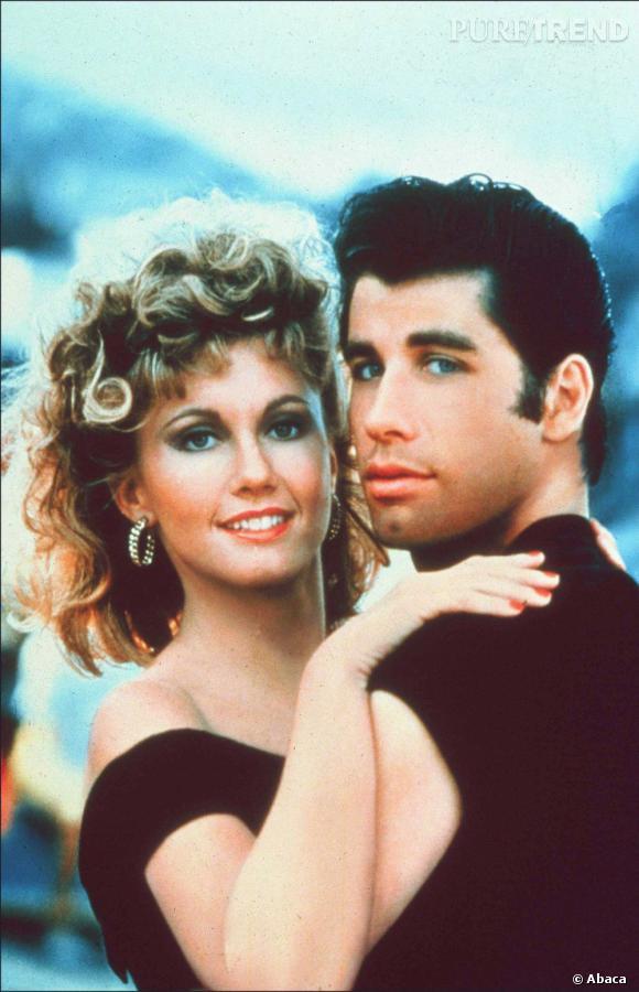 """John Travolta et Olivia Newton-John dans """"Grease""""."""