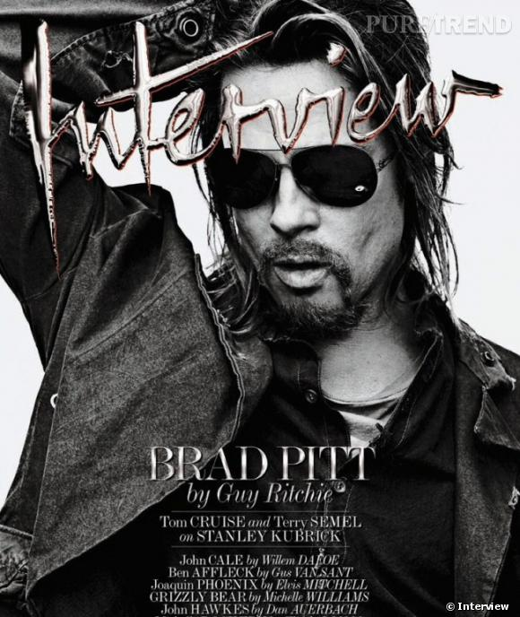 Brad Pitt en couv' d'Interview