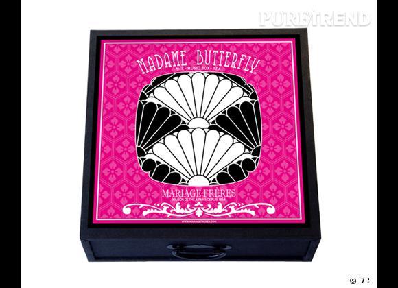 Le must have d'Aurélia      Coffret Mme Butterfly, coffret thé et boîte à musique, Mariage Frères, 59 €