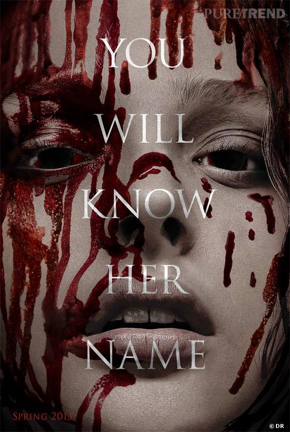 """L'affiche du film """"Carrie"""" est sanglante. On reconnait à peine Chloë Moretz !"""