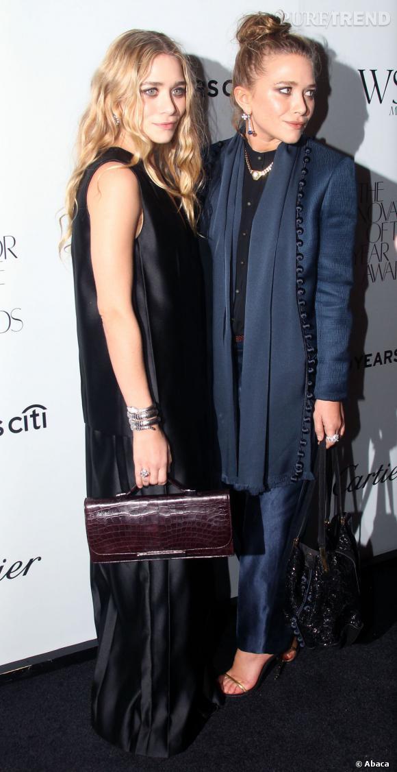 Mary-Kate et Ashley Olsen à New York pour les Innovator Awards.
