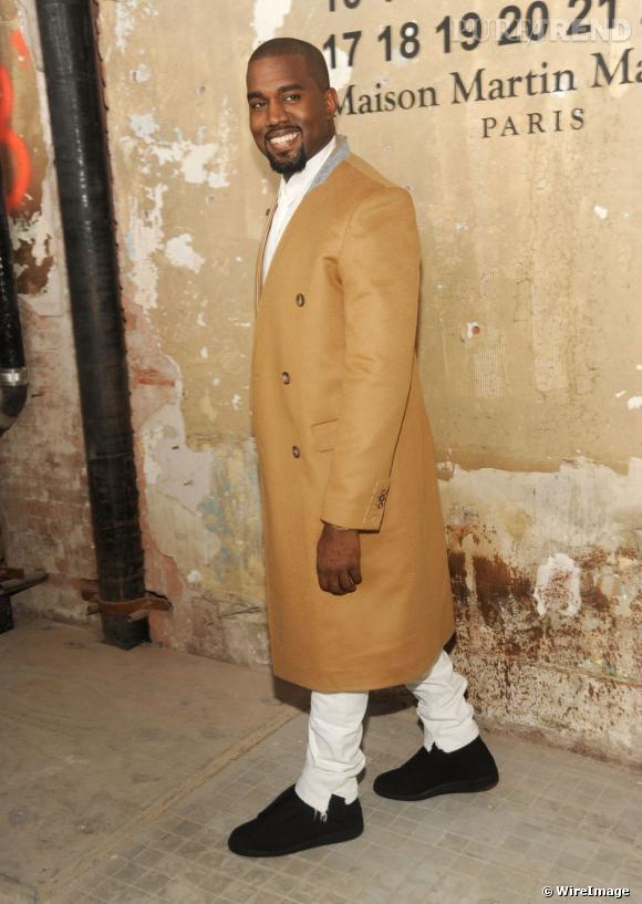 Kanye West à la présentation de la collection H&M et Martin Margiela à New York.