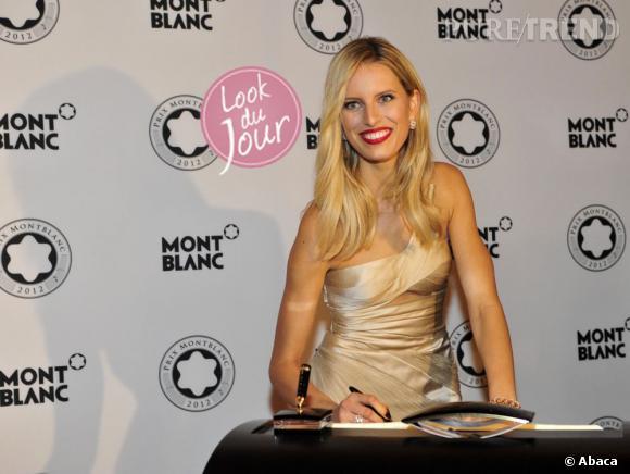 Karolia Kurkova au Prix Montblanc 2012 à Berlin.