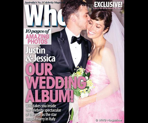 Pour son mariage avec Justin Timberlake, Jessica Biel opte pour une robe rose et surprend tout le monde.