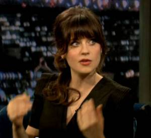 Zooey Deschanel au show de Jimmy Fallon.