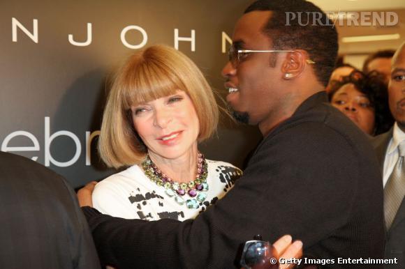 Anna Wintour et l'un de ses crush, P. Diddy.