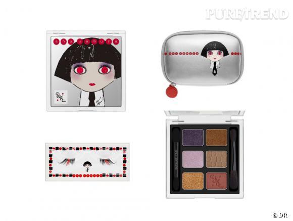 """Mon Shu Uemura"", la collection Noël de Shu Uemura dessinée par Karl Lagerfeld."