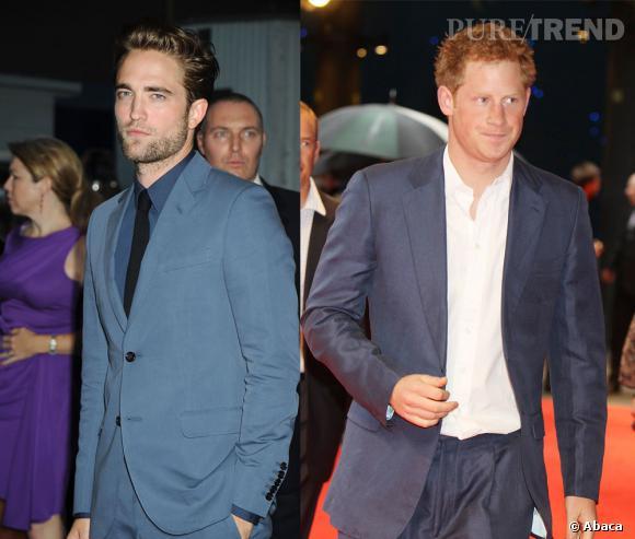 Robert Pattinson et le Prince Harry, les deux célibataires les plus en vue de 2012.