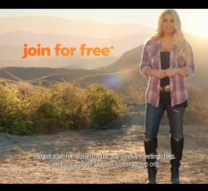 "Jessica Simpson pour ""Weight Watchers""."
