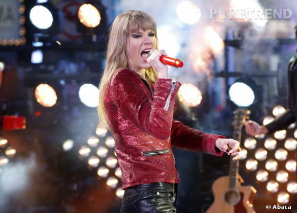 Taylor a d'abord mis le feu à Times Square pour le nouvel an.