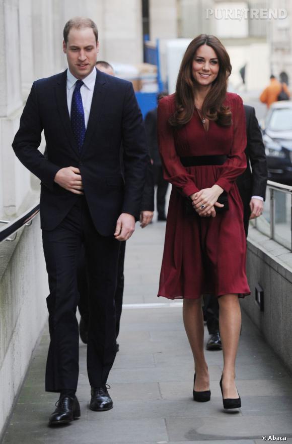 Kate Middleton et le Prince William tout sourrire en ce début 2013.