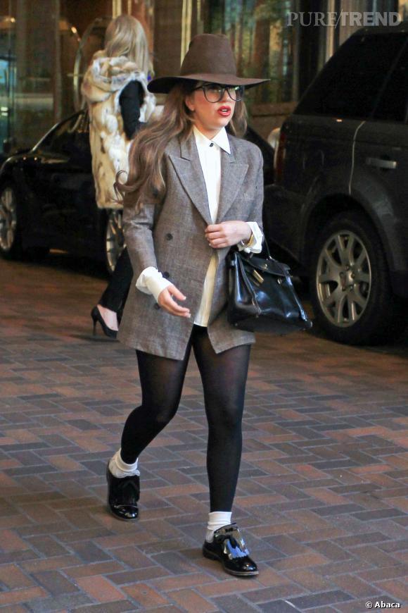 Lady Gaga a oublié son pantalon.