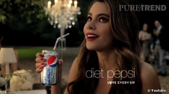 Sofia Vergara dans la nouvelle publicité Pepsi Diet.