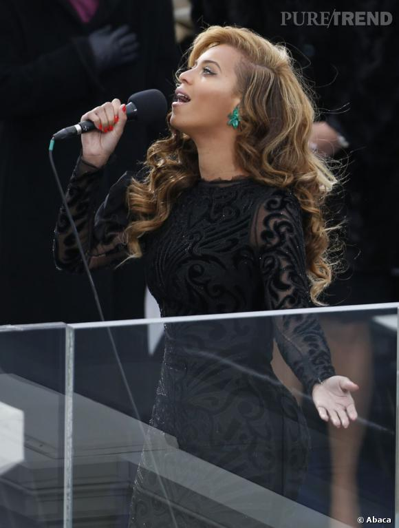 Beyoncé lors du concert d'investitude de Barack Obama.