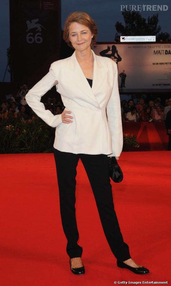 """Charlotte Rampling ici à la 66e Mostra de Venise : Elle va jouer une guest star dans """"Dexter""""."""