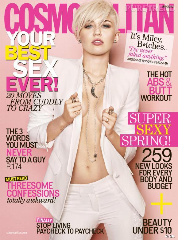 Miley Cyrus, sexy pour Cosmopolitan.