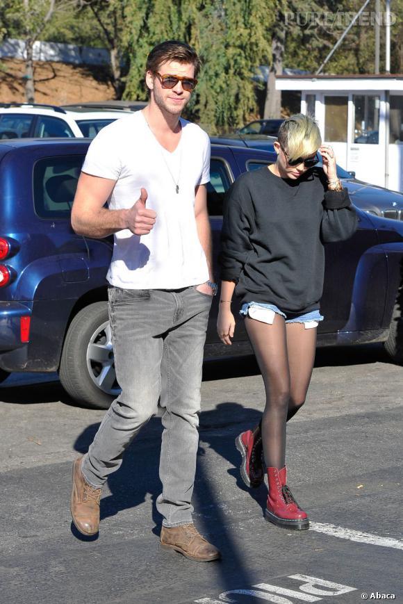 Miley Cyrus se cache des paparazzis.