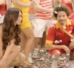 Megan Fox dans une publicité pour la bière brésilienne Brahma.