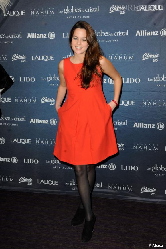 Anouchka Delon, atout charme des Globes de Cristal 2013.