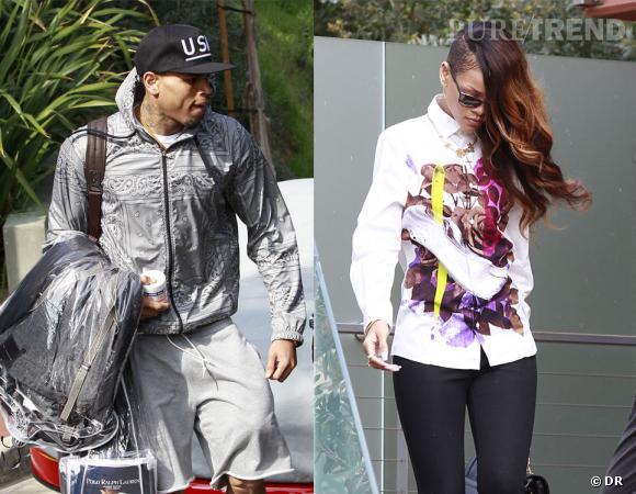C'est accompagné de Rihanna que Chris Brown s'est rendu au tribunal de Los Angeles mercredi 6 février 2013.