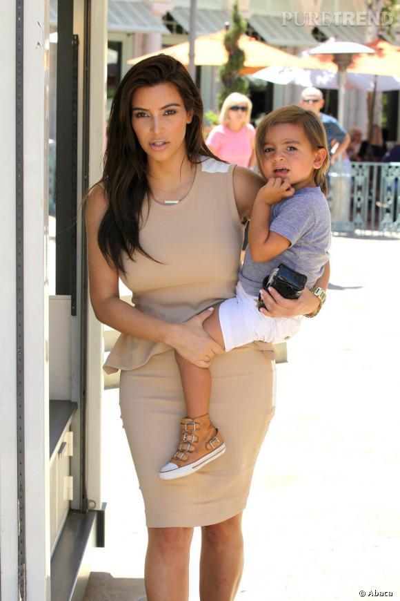 Kim Kardashian et Mason, le fils de Kourtney.