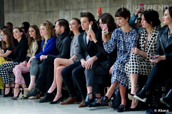 Victoria Pendleton, Olivia Palermo, Michael Polish, Kate Bosworth, Louis Tomlinson et son invité, Pixie Geldof et Daisy Lowe au défilé Topshop Unique.