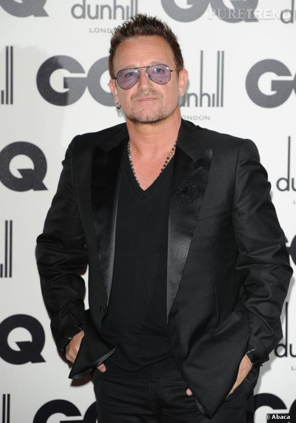 Bono lors des GQ Men Of The Year Awards en septembre 2012.