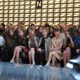 Ana Girardot, Leigh Lezark, Tallulah Harlech, Louise Bourgoin et Caroline de Maigret au défilé Fendi Automne-Hiver 2013/2014 à Milan.