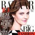 Drew Barrymore en Louis Vuitton sur la couverture de Harper's Bazaar.