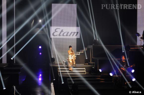Défilé Etam avec Lily Allen .