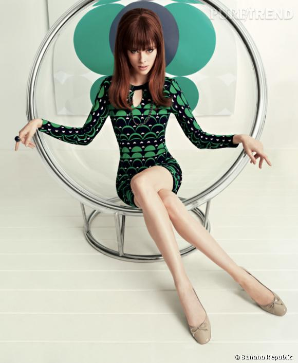 La nouvelle collection Mad Men de Banana Republic, avec Coco Rocha.