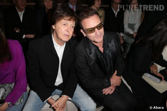 Paul McCartney et Bono chez Stella McCartney.