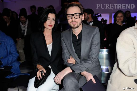 Jenifer et Christophe Willem front row chez Paco Rabanne.