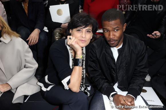 Inès de la Fressange et Franck Ocean au premier rang du défilé Chanel.