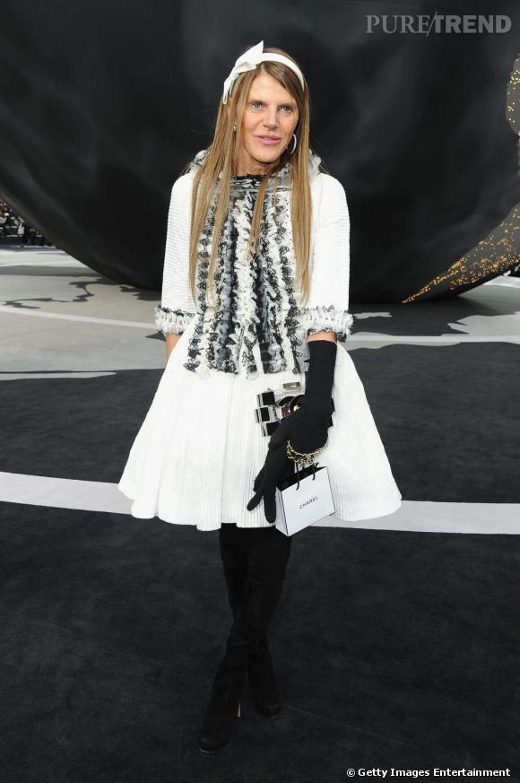 Anna Dello Russo au défilé Chanel.