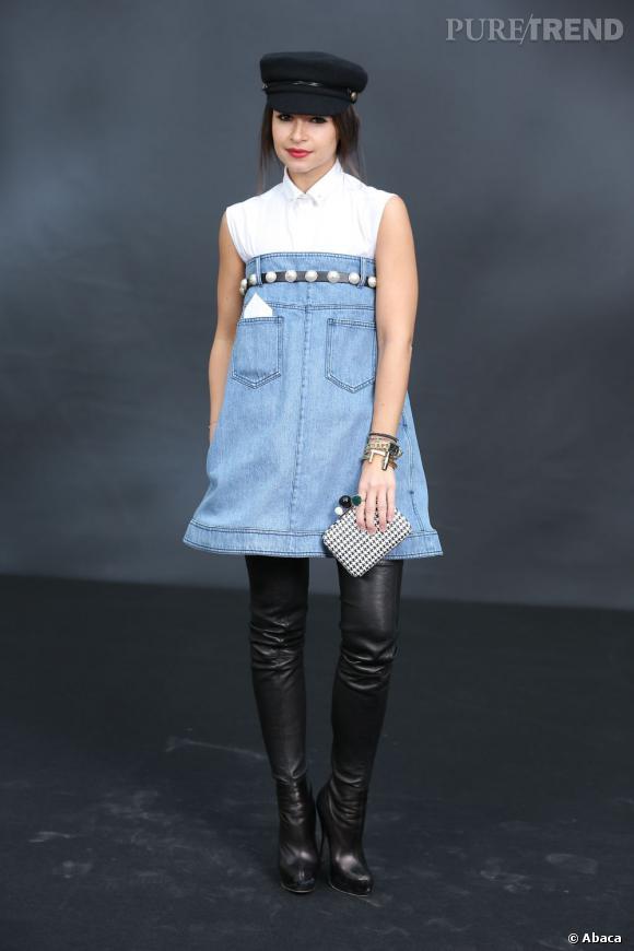 Miroslava Duma au défilé Chanel.