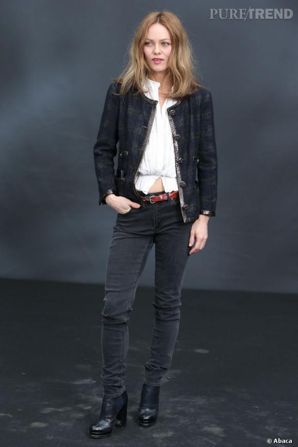 Vanessa Paradis au défilé Chanel.